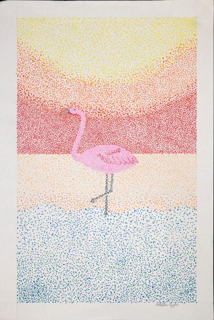 Drawing of a Flamingo