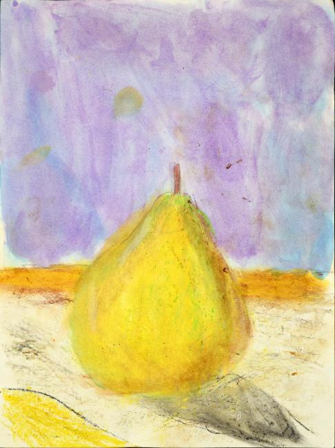 Drawing of a green Pear